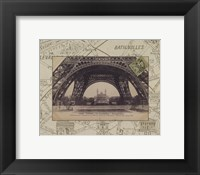Framed Destination Paris I