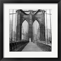 Framed Brooklyn Bridge, Sunday AM