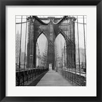 Framed Brooklyn Bridge, Sunday AM
