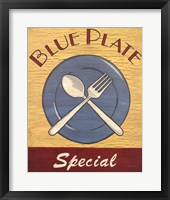 Framed Blue Plate Special