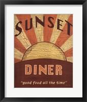 Framed Sunset Diner