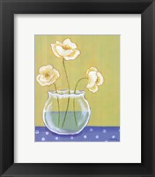 Framed White Poppies