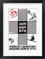 Framed NO REGRETS - SNOW BOARDER