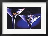 Framed MARTINIS WITH OLIVES
