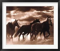 Framed Running Horses & Sunbeams
