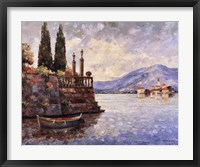 Framed Evening Light on Lake Como