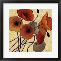 Pumpkin Poppies II Framed Print