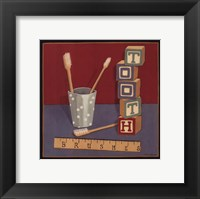 Tooth Brushes Framed Print