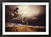 Motocross - Big Air Framed Print