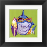 Look Out Shark Framed Print