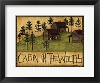 Framed Cabin in the Woods