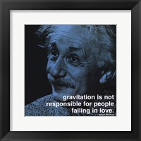 Framed Albert Einstein - iPhilosophy - Gravitation