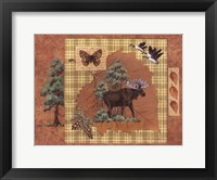 Moose Leaf Framed Print
