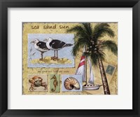 Sea, Sand, Sun Framed Print