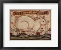 Framed Wild Hare