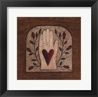 Framed Hand 'N Heart