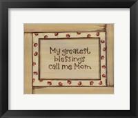 Framed My Greatest Blessings