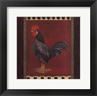 Black Rooster Framed Print