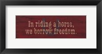 Borrow Freedom Framed Print