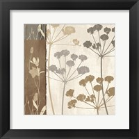 Framed Flowers & Ferns I