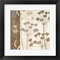 Framed Flowers & Ferns I