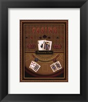 Twenty-One (Black Jack) Framed Print