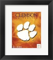 Framed 2008 Clemson University Team Logo