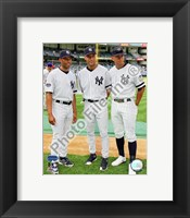 Framed Mariano Rivera, Derek Jeter, and Alex Rodriguez 2008 MLB All-Star Game