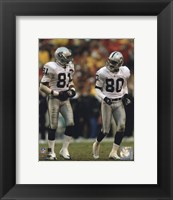 Framed Tim Brown & Jerry Rice
