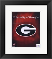 Framed 2008 University of Georgia Team Logo