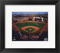 Framed Opening Day of Shea Stadium April 17, 1964 With Overlay