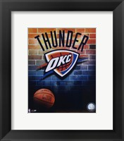 Framed 2008-09 Oklahoma Thunder Team Logo