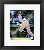 Framed Derek Jeter 2008 Batting Action