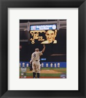 Framed Yogi Berra Final Game At Yankee Stadium 2008