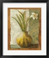 Framed Narcissus in Green Vase
