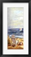 Sunny Beach Panel I Framed Print