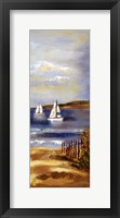 Sunny Beach Panel II Framed Print