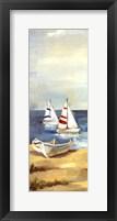 Sunny Beach Panel III Framed Print