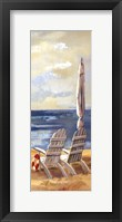 Sunny Beach Panel IV Framed Print