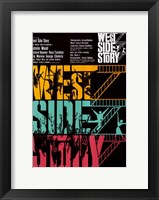 Framed West Side Story Colorful