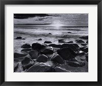 Winter Sunrise Montauk Coast Framed Print