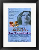 Framed La Traviata Anna Moffo
