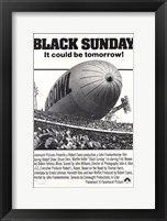 Framed Black Sunday - B&W