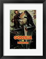 Framed Godzilla vs Megalon