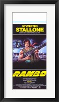 Framed Rambo: First Blood Stallone with Automatic Rifle
