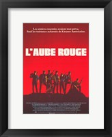 Framed Red Dawn L'Aube Rouge French