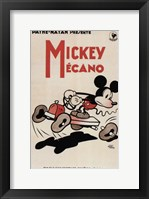 Framed Mickey Mouse - in a car