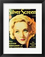 Framed Marlene Dietrich - Silver Screen