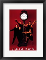 Framed Friends (TV) Clock Red