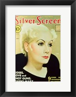 Framed Greta Garbo - Silver Screen